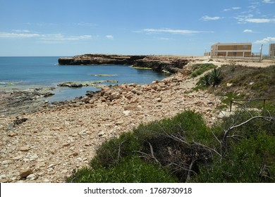 The buildings at the Los Locos beach, Torrevieja, Spain