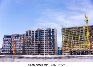 Buildings of Makati Central Business District on-going construction.