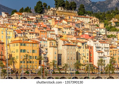 Buildings in Menton, South of France