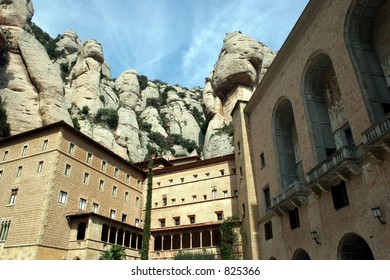 Buildings at Montserrat in Spain.