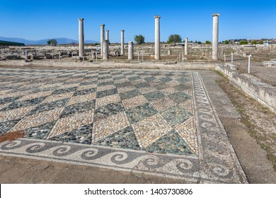 Buildings with mosaics in Pella, the native town of Alexander the Great, Macedonia, Greece