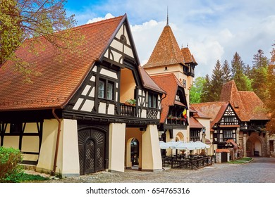 Buildings near the Pelesh Castle in Sinaia, Romania