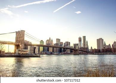 Buildings of New York, Manhattan Skyscrapers in Winter