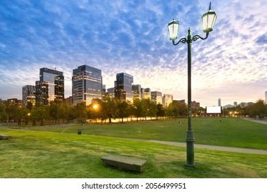 Buildings at Nueva Las Condes, a new financial and business center in Las Condes district next to Araucano Park, Santiago de Chile