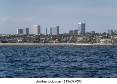 Buildings and Ocean in Orange County California