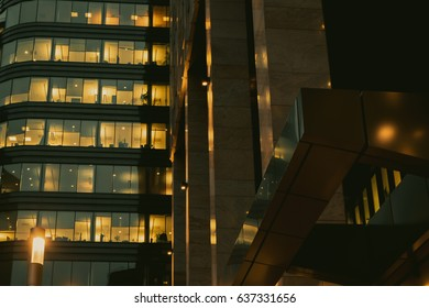 Buildings of the office center. Business background