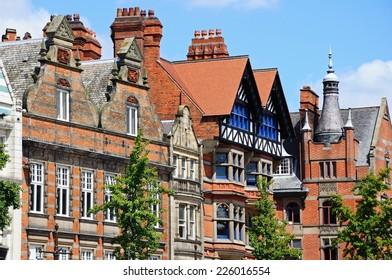 Buildings in the old Market Square, Nottingham, Nottinghamshire, England, UK, Western Europe.