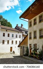 Buildings of Old Town Gruyere, Switzerland