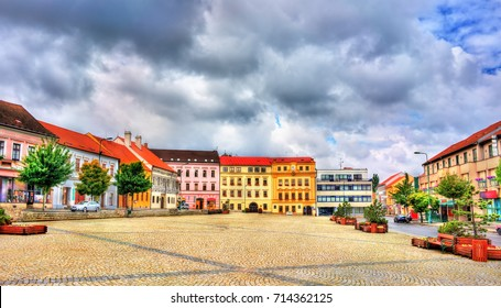 Buildings in the old town of Trebic, Czech Republic. UNESCO heritage site