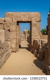 Buildings on the ancient temple grounds of Karnak in Luxor, Egypt.