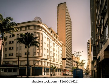Buildings on the downtown Avenue 'Francisco Glicerio' on in Campinas, SP/ Brazil. Artistic view