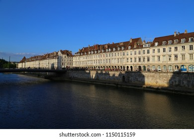 Buildings on the embankment in Besancon