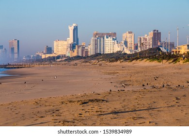 Buildings on the golden mile at durban beachfront