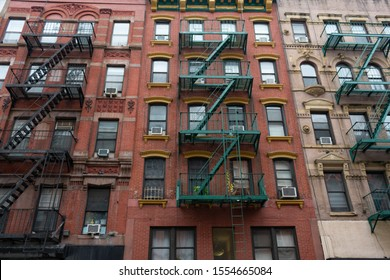 Buildings on the Lower East Side in New York City with Fire Escapes