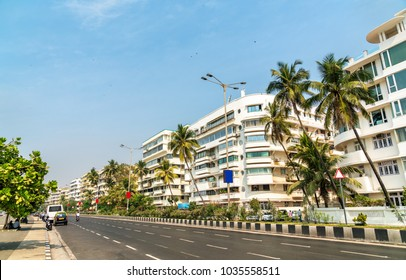 Buildings on Marine Drive in Mumbai - Maharashtra, India