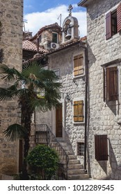 Buildings on the Old Town of Kotor in Montenegro