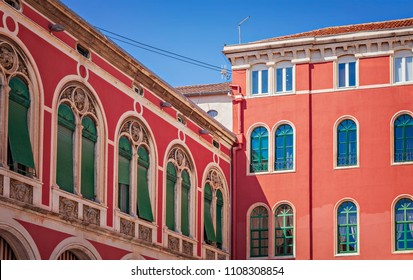 Buildings on the Republic Square in Split, Croatia.
