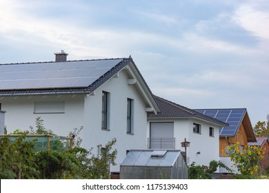 buildings residential area of modern architecture in south german bavaria countryside