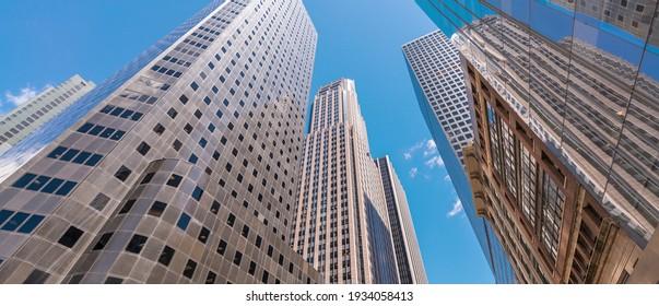 Buildings and skyline of Manhattan. New York City - USA.