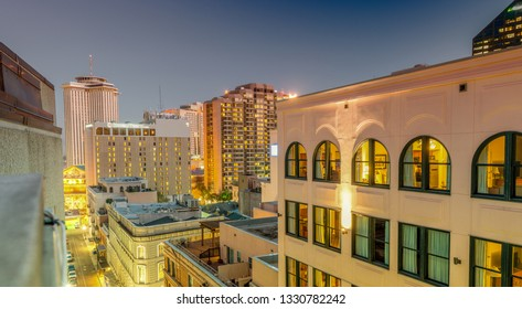 Buildings and skyline of New Orleans, Lousiana.