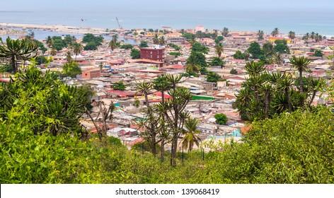 Buildings standing close in Luanda, Angola.