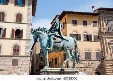 Buildings and statue in Florence, Italy