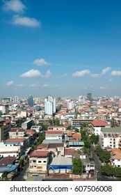 Buildings surrounding  Tuol Sleng genocide museum (S-21) in Phnom Penh, Cambodia