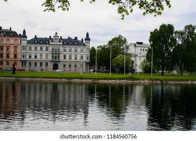 Buildings in the town of Karlstad, Sweden