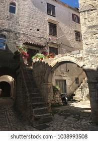 The buildings of Trogir, Croatia