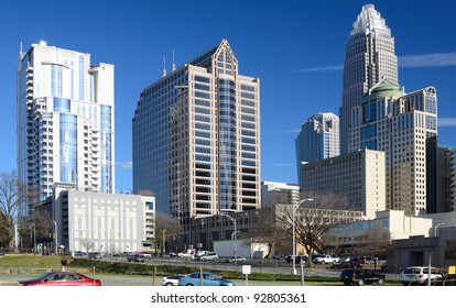 Buildings in Uptown Charlotte, North Carolina.