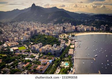 Buildings at the waterfront, Guanabara Bay, Rio De Janeiro, Brazil