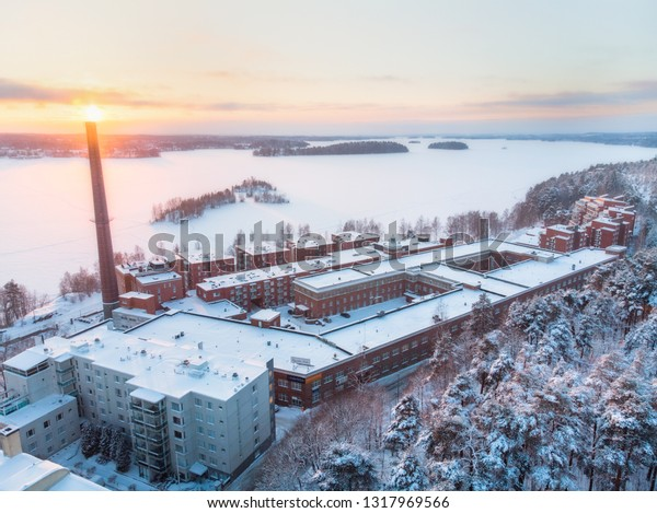 Buildings which are built of red bricks, are common in Tampere's street view, tells about Tampere's industrial history. Pyynikin Trikoo is one of the old factories where clothes are made.