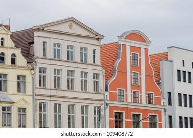 Buildings in Wismar in Northeastern Germany