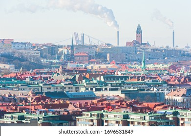 Builldings of Gothenburg city, Sweden.