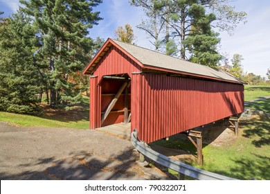 Built in 1849, the historic Armstrong Clio Covered Bridge has found a home since 1966 at a city park in Cambridge, Ohio.