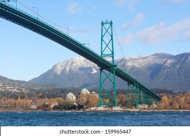 Built in the 1930s, Vancouver's Lions Gate Bridge spans across Burrard Inlet to the Northshore/Vancouver's Lions Gate Bridge/Lions Gate Bridge and Vancouver's Northshore.