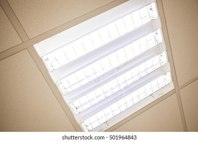 Built in ceiling lights in office