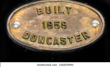 Built in Doncaster 1959 sign