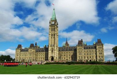 Built in the Gothic Revival style, Centre Block is the main building of the Canadian parliamentary complex on Parliament Hill, in Ottawa, Ontario, containing the House of Commons and Senate chambers.