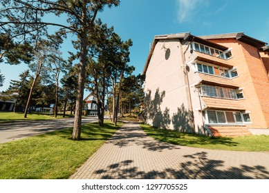 Built in Nida, Lithuania. Nida is a resort town in Lithuania. Located on the Curonian Spit between the Curonian Lagoon and the Baltic Sea. UNESCO heritage