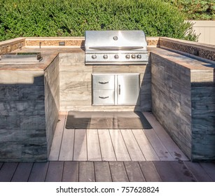 Built-in grill at the private deck