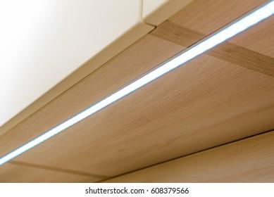 Built-in light in furniture