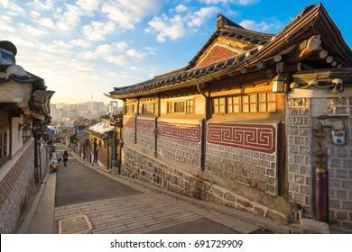 Bukchon Hanok landmark in Seoul, South Korea.