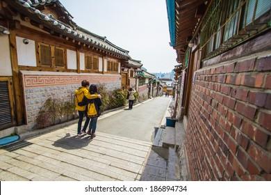 Bukchon Hanok Village in Seoul South Korea