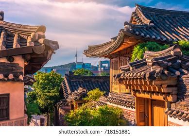 Bukchon Hanok Village in Seoul, South Korea