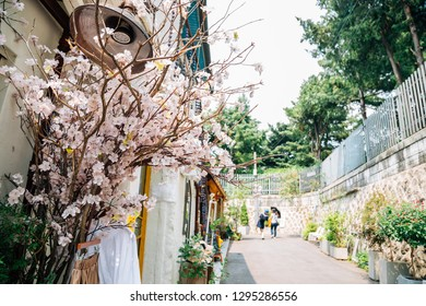 Bukchon Hanok village at spring in Seoul, Korea
