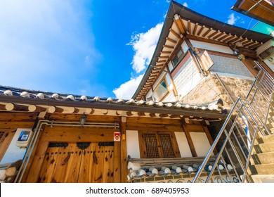 Bukchon Hanok Village, Traditional architecture in Seoul, Korea