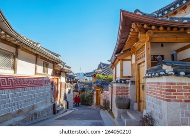 Bukchon Hanok Village,Traditional Korean style architecture in Seoul,Korea