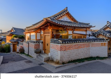 Bukchon Hanok Village,Traditional Korean style architecture in Seoul,Korea.