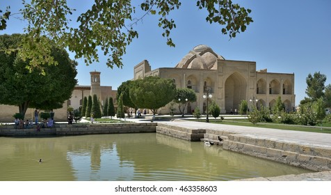 Bukhara, Uzbekistan - August 05 2015: The MEMORIAL COMPLEX of BAHAUDDIN NAQSHBANDI (1318-1389), is a center of pilgrimage as it was worshipped not only in Bukhara but also in the whole Islamic world.